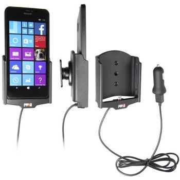 Brodit držák do auta na Microsoft Lumia 640 XL bez pouzdra, s nabíjením z cig. zapalovače/USB