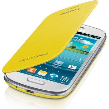 Samsung flipové pouzdro EFC-1M7FY pro Galaxy S III mini (i8190), žlutá