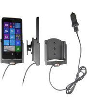 Brodit držák do auta na Microsoft Lumia 640 bez pouzdra, s nabíjením z cig. zapalovače/USB