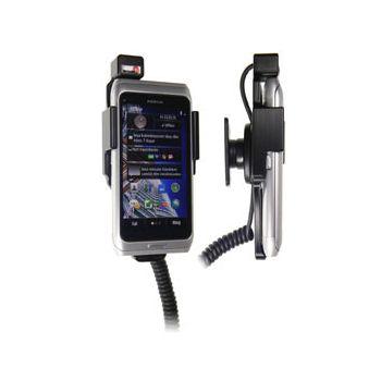 Brodit držák do auta na Nokia E7-00 bez pouzdra, s nabíjením z cig. zapalovače