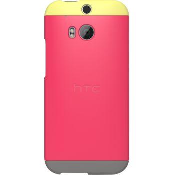 HTC pouzdro Double Dip Hard Shell HC C940 pro HTC One (M8), růžovo žluto šedé