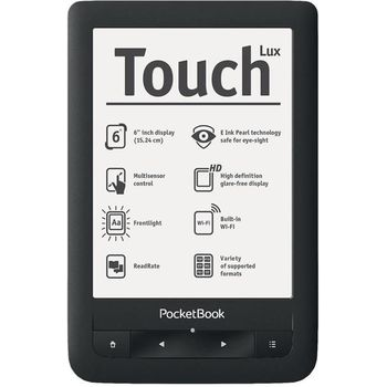 PocketBook 623 Touch LUX, podsvícená čtečka eknih, černá