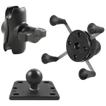 RAM Mounts univerzální držák na mobilní telefon s krátkým ramenem na motorku na nádržku brzdové kapaliny, X-Grip, sestava RAM-B-182-UN7B-AU