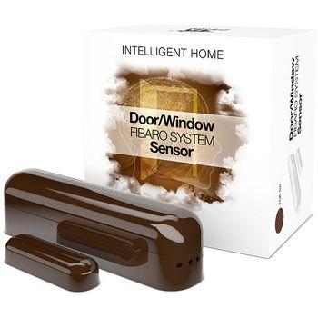 Fibaro bateriový Senzor (magnetický kontakt) na okna a dveře, tmavě hnědý