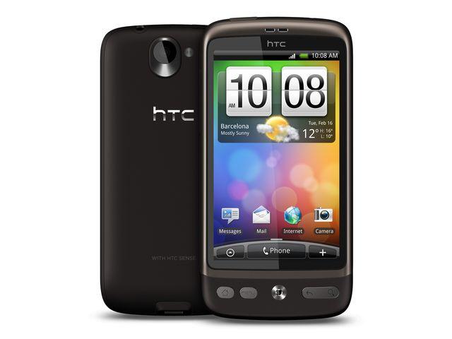 obsah balení HTC Desire + USB kolébka s nabíječkou ext. baterie + náhradní baterie