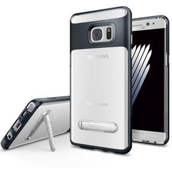 Spigen ochranný kryt Crystal Hybrid pro Galaxy Note 7, kovově šedé