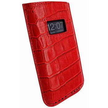 Piel Frama pouzdro pro iPhone 5 Pull Case, Crocodile Red