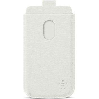 Belkin Pocket Case zasouvací pouzdro pro Samsung Galaxy S III PU kůže, bílé (F8M410cwC03)