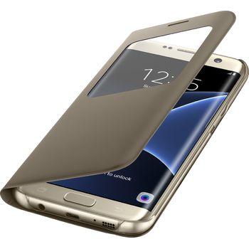 Samsung flipové pouzdro S View EF-CG935PF pro Galaxy S7 edge, zlaté