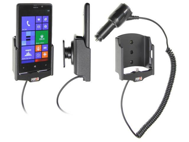 obsah balení Brodit držák do auta pro Nokia Lumia 820 s nabíjením + adaptér pro snadné odebrání držáku z proclipu