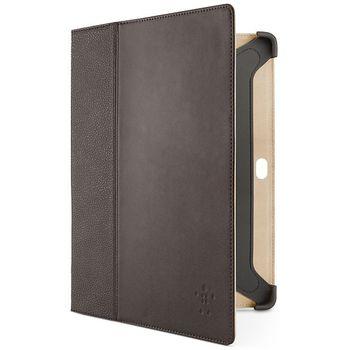Belkin Leather Cinema Folio pouzdro pro Samsung Galaxy Tab 2 10.1, hnědá kůže (F8M393cwC02)