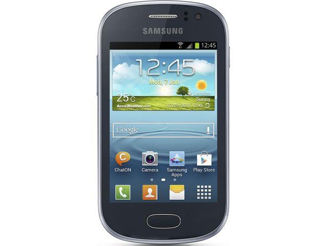 obsah balení Samsung S6810 Galaxy Fame, modrý