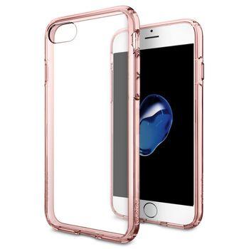 Spigen ochranný kryt Ultra Hybrid pro iPhone 7, průhledná-růžová