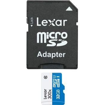 Lexar microSDHC 32GB UHS-I paměťová karta + SDHC adaptér