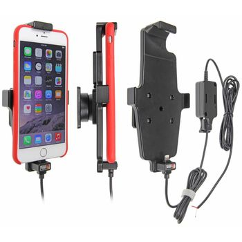 Brodit držák do auta na Apple iPhone 6/6S/7 Plus v pouzdru, s pružinou, se skrytým nabíjením