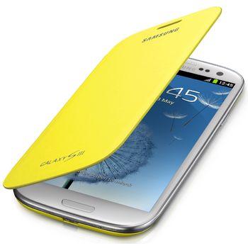 Samsung flipové pouzdro EFC-1G6FYE pro Galaxy S III (i9300), Yellow