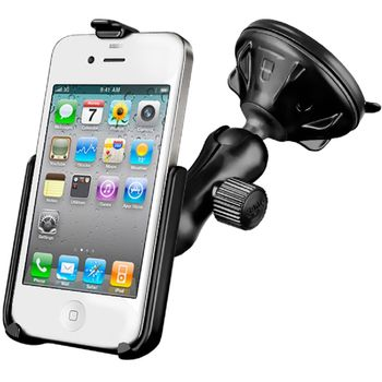 RAM Mounts držák na iPhone 4 a 4S do auta s vysoce kvalitní přísavkou na sklo, sestava RAP-B-166-2-AP9U