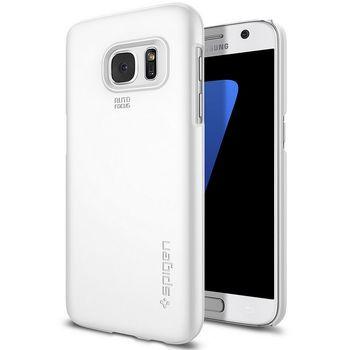 Spigen pouzdro Thin Fit pro Galaxy S7, bílé