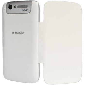 Alcatel One Touch 997 Flip pouzdro bílé
