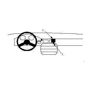 Brodit ProClip montážní konzole pro Bentley Mulsanne 86-92, na střed