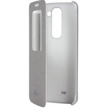 LG flipové pouzdro QuickWindow CCF-370 pro LG G2 mini, stříbrné