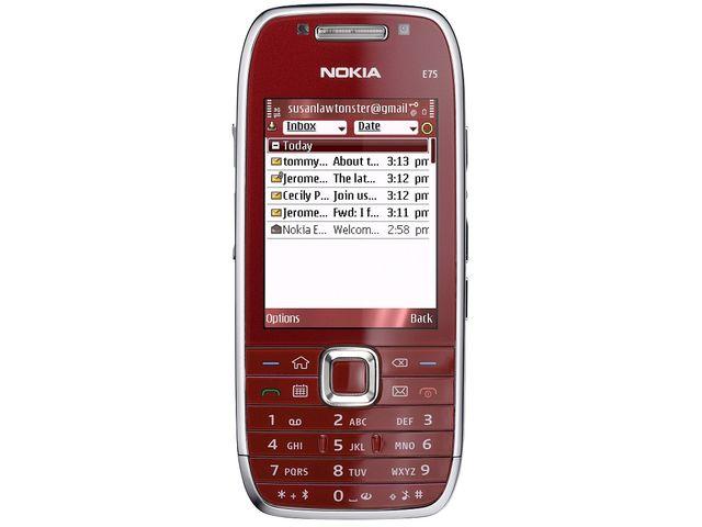 obsah balení NOKIA E75 Red 4GB + Krusell pouzdro Orbit flex