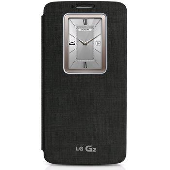 LG flipové pouzdro QuickWindow CCF-240G pro LG G2, černé