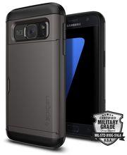 Spigen pouzdro Slim Armor CS pro Galaxy S7, gunmetal (šedá)