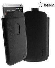 Belkin zasouvací pouzdro pro HTC One, PU kůže, černé (F8M573vfC00)