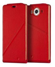 Mozo flipové pouzdro pro bezdrátové nabíjení pro Lumia 950 XL, červené