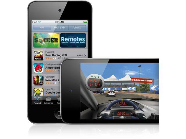 obsah balení Apple iPod touch 64GB 4.gen + reproduktor přenosný Soundtraveller K3000ST