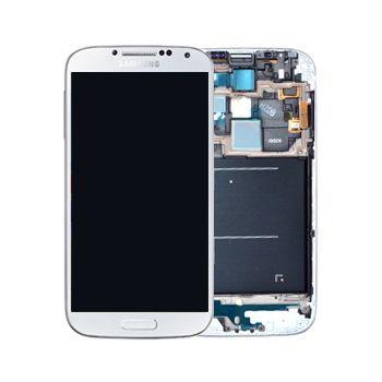 Náhradní díl LCD displej s dotykovou vrstvou a předním krytem pro Samsung i9515 Galaxy S4 VE, bílá