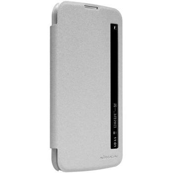 Nillkin flipové pouzdro Sparkle S-View pro LG K10, bílé