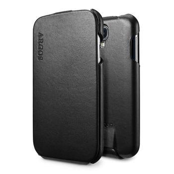 Spigen flipové kožené pouzdro Argos pro Galaxy S4, černá
