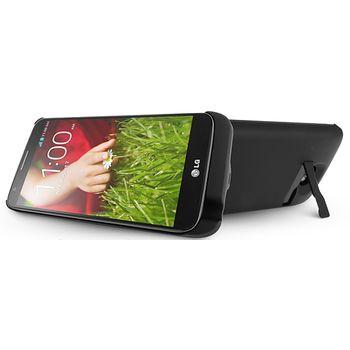 Brando plastové pouzdro s přídavnou baterií pro LG G2, 3200mAh, černá