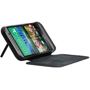 Brando flipové pouzdro s přídavnou baterií pro HTC One (M8), 4500mAh, černá