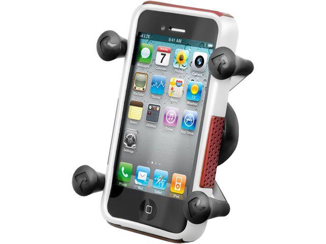 obsah balení RAM Mounts univerzální držák na mobil do auta na palubní desku se silným samolepícím úchytem, X-Grip, SB čep, sestava RAP-SB-180-UN7BU