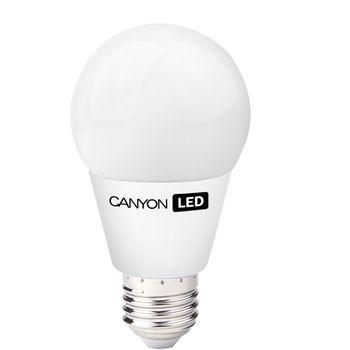 Canyon LED žárovka, (ekv. 40W) E27, kompakt kulatá, mléčná 6W, 470 lm, teplá bílá 2700K