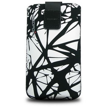 Fixed pouzdro Velvet s motivem White Cracks, velikost XXL, bílá