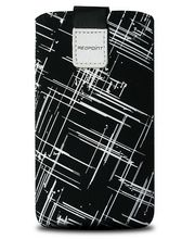 Fixed pouzdro Velvet s motivem White Stripes, velikost L, bílá