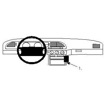 Brodit ProClip montážní konzole pro Ford Mondeo 93-96, na střed vpravo