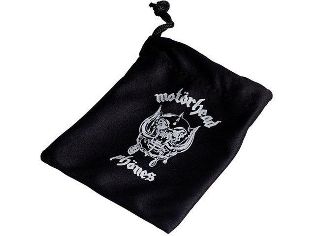 obsah balení Sluchátka Motörheadphönes Overkill s mikrofonem černá + Pouzdro Burner L (černá/červená)