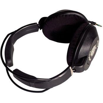 Náhlavní sluchátka Motörheadphönes Iron Fist (černá) + Pouzdro Burner L (černá/červená)