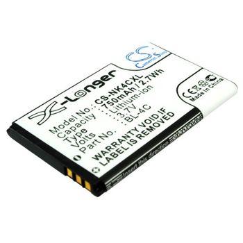 Baterie (ekv. BL-4C) pro Nokia C2-05, 6300, 5100, 6100, 6125, 6126, Li-Ion 3,7V 750mAh