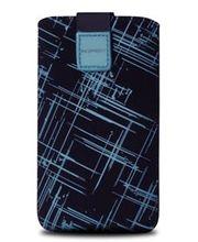 Fixed pouzdro Velvet s motivem Blue Stripes, velikost XXL, modrá