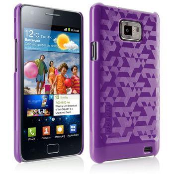 Belkin trendové pouzdro pro Samsung Galaxy S2 se vzorem, fialové (F8M223cwC01)