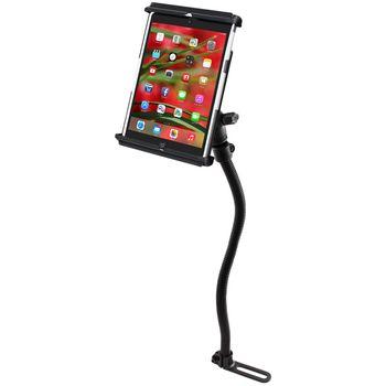 RAM Mounts univerzální držák na iPad mini v pouzdru nebo bez do auta s úchytem na patu sedadla spolujezdce, čelisťový, sestava RAM-B-316-1-TAB12U