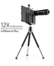 Brando objektiv 12x zoom se stativem pro Apple iPhone 6 Plus, černý