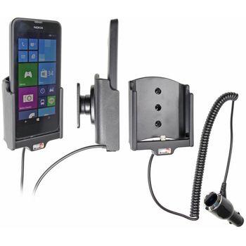 Brodit držák do auta na Nokia Lumia 630/630DS bez pouzdra, s nabíjením z cig. zapalovače