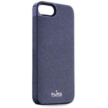 PURO pouzdro Eco-Leather Cover pro Apple iPhone 5 - modrá